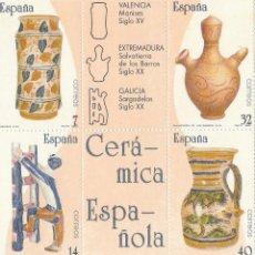 Sellos: 1987 ARTESANIA ESPAÑOLA. CERAMICA. ** .H/B (TC410). Lote 44018981