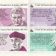Sellos: 1986 . CARNET. V CENTENARIO DEL DESCUBRIMIENTO DE AMERICA (TC411). Lote 44018999
