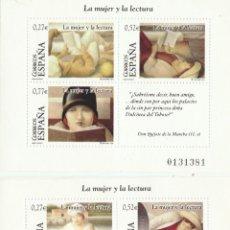 Sellos: .2004..ESPAÑA. LA MUJER Y LA LECTURA. 2 H/B .NUEVAS ** (TC423). Lote 44110212