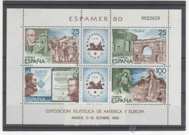 HOJITA ESPAMER´80 (Sellos - España - Juan Carlos I - Desde 1.975 a 1.985 - Nuevos)