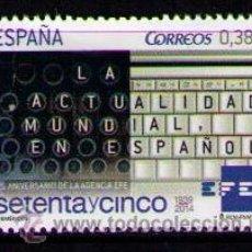 Sellos: ESPAÑA 2014 - 75 ANIVERSARIO DE LA AGENCIA EFE - EDIFIL Nº 4896**. Lote 195376851