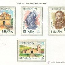 Sellos: HISPANIDAD. COSTA RICA. 1976. EDIFIL 2371-74. Lote 44388084