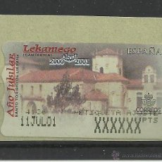 Francobolli: ATM ETIQUETA DE AJUSTE MONASTERIO DE LIEBANA CANTABRIA. Lote 44417776