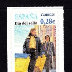 Sellos: ESPAÑA 4174** - AÑO 2005 - DIA DEL SELLO - CARTEROS. Lote 293679123