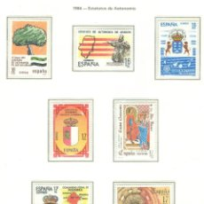 Sellos: ESTATUTOS DE AUTONOMÍA. 1984. EDIFIL 2735-42. Lote 44491900