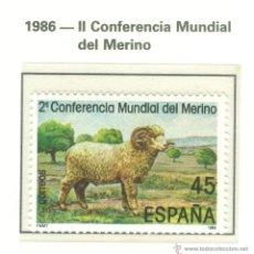 Sellos: II CONFERENCIA MUNDIAL DEL MERINO. 1986. EDIFIL 2839. Lote 44752305