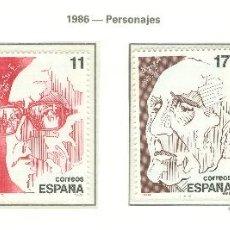 Sellos: PERSONAJES. 1986. EDIFIL 2853-56. Lote 44758332