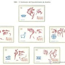 Sellos: V CENTENARIO DEL DESCUBRIMIENTO DE AMÉRICA. 1988. EDIFIL 2969-74. Lote 44766091