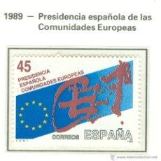 Sellos: PRESIDENCIA ESPAÑOLA DE LAS COMUNIDADES EUROPEAS. 1989. EDIFIL 3010. Lote 44766119