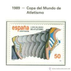 Sellos: V COPA DEL MUNDO DE ATLETISMO. 1989. EDIFIL 3023. Lote 44766239