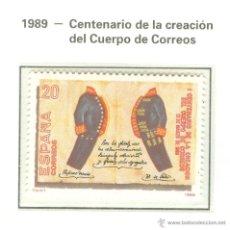 Stamps - I CENTENARIO DE LA CREACIÓN DEL CUERPO DE CORREOS. 1989. EDIFIL 2998 - 44794181