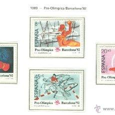 Sellos: BARCELONA 92. II SERIE PRE-OLÍMPICA. 1989. EDIFIL 2994-97. Lote 44794189