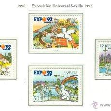 Sellos: EXPOSICIÓN UNIVERSAL DE SEVILLA, EXPO 92. 1990. EDIFIL 3050-53. Lote 44799323