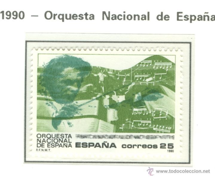 ORQUESTA NACIONAL DE ESPAÑA. 1990. EDIFIL 3098 (Sellos - España - Juan Carlos I - Desde 1.986 a 1.999 - Nuevos)