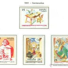 Sellos: CENTENARIOS. 1991. EDIFIL 3118-21. Lote 44805332