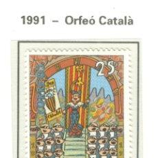 Sellos: I CENTENARIO DEL ORFEÓN CATALÁN. 1991. EDIFIL 3126. Lote 44805378