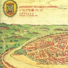 Sellos: DOCUMENTO FILATÉLICO Nº 18. EXPOSICIÓN FILATÉLICA EUROPEA. SEVILLA RUMBO AL 92. 1991. Lote 44805678