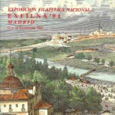 Sellos: DOCUMENTO FILATÉLICO Nº 19. EXPOSICIÓN FILATÉLICA NACIONAL EXFILNA 91. 1991. Lote 44805771