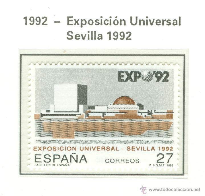 EXPOSICIÓN UNIVERSAL SEVILLA 1992. 1992. EDIFIL 3155 (Sellos - España - Juan Carlos I - Desde 1.986 a 1.999 - Nuevos)