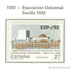 Sellos: EXPOSICIÓN UNIVERSAL SEVILLA 1992. 1992. EDIFIL 3155. Lote 44807633