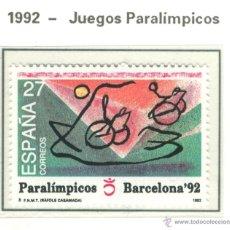 Sellos: JUEGOS PARALÍMPICOS. 1992. EDIFIL 3192. Lote 44808026