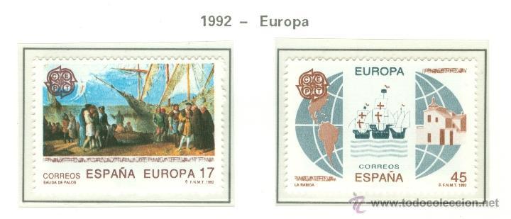 EUROPA. 1992. EDIFIL 3196-97 (Sellos - España - Juan Carlos I - Desde 1.986 a 1.999 - Nuevos)