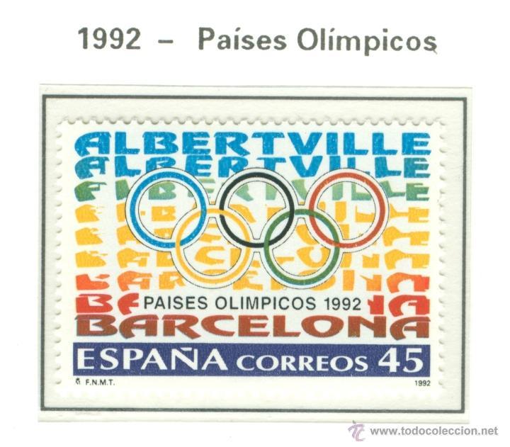 PAÍSES OLÍMPICOS. 1992. EDIFIL 3211 (Sellos - España - Juan Carlos I - Desde 1.986 a 1.999 - Nuevos)