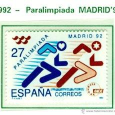 Sellos: PARALIMPIADA MADRID 92. 1992. EDIFIL 3220. Lote 44808670