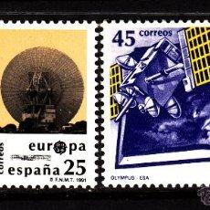 Sellos: ESPAÑA 3116/17** - AÑO 1991 - EUROPA - EL ESPACIO. Lote 44966040