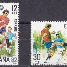 Sellos: ESPAÑA 1981 - COPA MUNDIAL DE FUTBOL ESPAÑA '82 - EDIFIL Nº 2613-2614. Lote 119552612