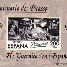 Sellos: ESPAÑA 1981 - EL GUERNICA DE PICASSO - EDIFIL Nº 2631. Lote 186246453