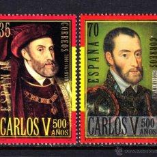 Sellos: ESPAÑA 3697/98** - AÑO 2000 - 5º CENTENARIO DEL NACIMIENTO DE CARLOS V. Lote 254644370