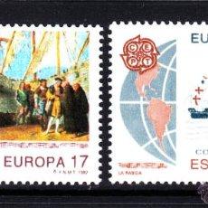Sellos: ESPAÑA 3196/97** - AÑO 1992 - EUROPA - 5º CENTENARIO DEL DESCUBRIMIENTO DE AMERICA. Lote 45039401