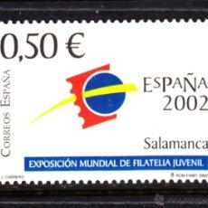 Sellos: ESPAÑA 3877** - AÑO 2002 - EXPOSICIÓN FILATÉLICA INTERNACIONAL JUVENIL ESPAÑA 2002. Lote 45091436