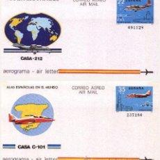 Sellos: ESPAÑA 1983 - AEROGRAMAS - EDIFIL Nº 205-206. Lote 54592810
