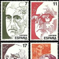 Sellos: ESPAÑA 1986 - PERSONAJES - EDIFIL Nº 2853-2856. Lote 45162916