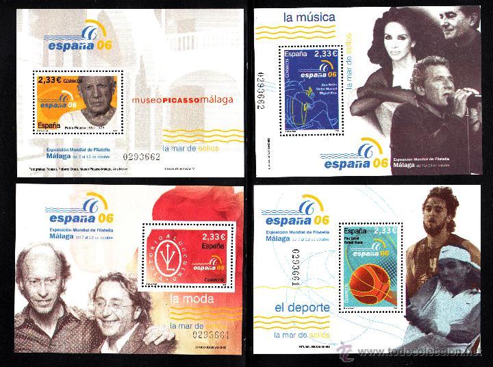 Sellos: ESPAÑA 4268/74** - AÑO 2006 - EXPOSICION FILATÉLICA INTERNACIONAL ESPAÑA 2006 - Foto 2 - 45267921