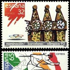 Sellos: ESPAÑA 1987 - NOMINACION DE BARCELONA SEDE OLIMPICA - EDIFIL Nº 2908-2909. Lote 45383447