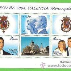 Sellos: EDIFIL 4087 H.B. EXPOSICIÓN MUNDIAL DE FILATELIA ESPAÑA. VALENCIA. - MONARQUÍA. (2004).** NUEVO.. Lote 45393434