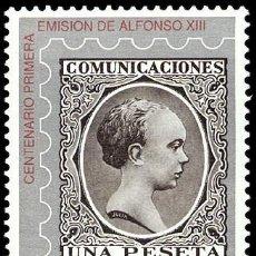 Sellos: ESPAÑA 1989 - CENTENARIO 1ª EMISION DE ALFONSO XIII - PELON - EDIFIL Nº 3024. Lote 45541773