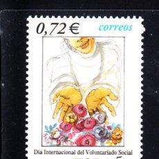 Sellos: ESPAÑA 3842** - AÑO 2001 - DIA INTERNACIONAL DEL VOLUNTARIADO SOCIAL . Lote 45551698
