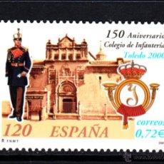 Sellos: ESPAÑA 3778** - AÑO 2001 - 150º ANIVERSARIO DEL COLEGIO DE INFANTERÍA DE TOLEDO. Lote 112843080