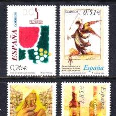 Sellos: ESPAÑA 4015/18** - AÑO 2003 - VINOS CON DENOMINACION DE ORIGEN. Lote 45584826