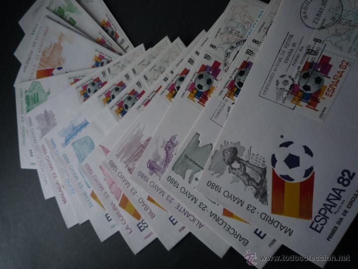 MUNDIAL 82 SOBRE PRIMER DÍA SEDES (Sellos - España - Juan Carlos I - Desde 1.986 a 1.999 - Cartas)