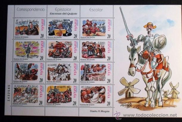 1998 MINIPLIEGOS CORRESPONDENCIA EPISTOLAR ESCOLAR,ESCENAS DE EL QUIJOTE. (Sellos - España - Juan Carlos I - Desde 1.986 a 1.999 - Nuevos)