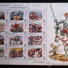 Sellos: 1998 MINIPLIEGOS CORRESPONDENCIA EPISTOLAR ESCOLAR,ESCENAS DE EL QUIJOTE.. Lote 45666673
