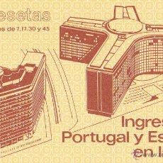 Sellos: CARTERITA INGRESO ESPAÑA Y PORTUGAL EN LA C.E. AÑO 1986. PERFECTA. Lote 45756416