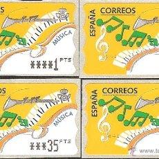 Sellos: ATM ESPAÑA PESETAS SERIE 5 DIG. ESTRECHOS DE MÚSICA Y VALOR MINIMO--LIQ.COLECCION--. Lote 45762344