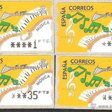 Sellos: ATM ESPAÑA PESETAS SERIE 5 DIG. ANCHOS DE MÚSICA Y VALOR MINIMO--LIQ.COLECCION--. Lote 45762374