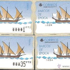 Sellos: ATM ESPAÑA PESETAS SERIE 5 DIG. ESTRECHOS DE BARCOS DE EPOCA Y VALOR MINIMO--LIQ.COLECCION--. Lote 45927355